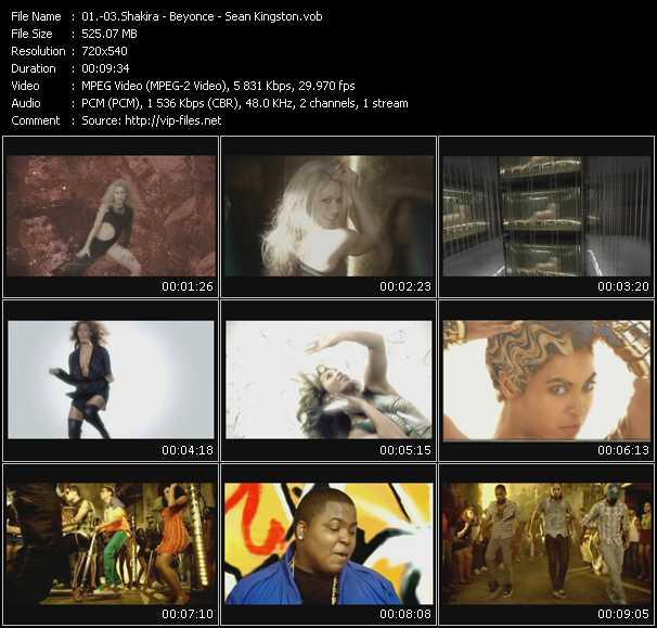 Shakira - Beyonce - Sean Kingston - She Wolf - Sweet Dreams - Fire Burning