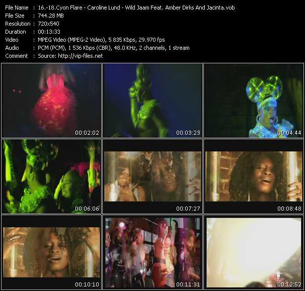 Cyon Flare - Caroline Lund - Wild Jaam Feat. Amber Dirks And Jacinta - Everybody Everybody - Move Your Body (Wayne G. Anthem Mix) (LFB MJC Video Edit Directed by Evan Cowden) - Day In Time (Electrik Pulse Tribal Club Edit)
