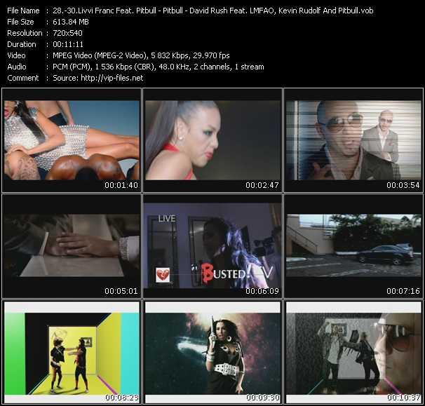 Livvi Franc Feat. Pitbull - Pitbull - David Rush Feat. Lmfao, Kevin Rudolf And Pitbull - Now I'm That Bitch - Hotel Room Service - Shooting Star
