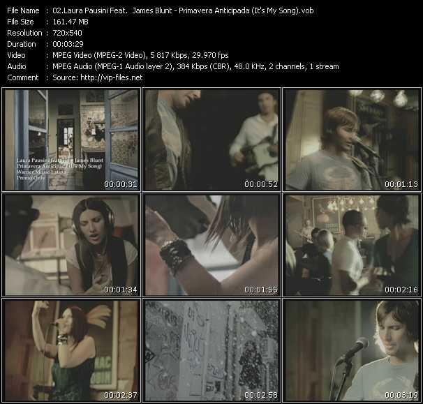 Laura Pausini Feat. James Blunt - Primavera Anticipada (It's My Song)