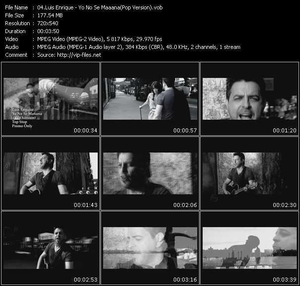 Luis Enrique - Yo No Se Maaana (Pop Version)