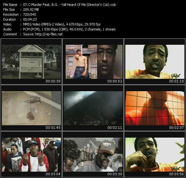 C-Murder Feat. B.G. - Yall Heard Of Me (Director's Cut)