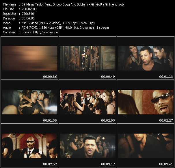 Mams Taylor Feat. Snoop Dogg And Bobby Valentino (Bobby V) - Girl Gotta Girlfriend