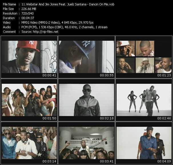 Webstar And Jim Jones Feat. Juelz Santana - Dancin On Me