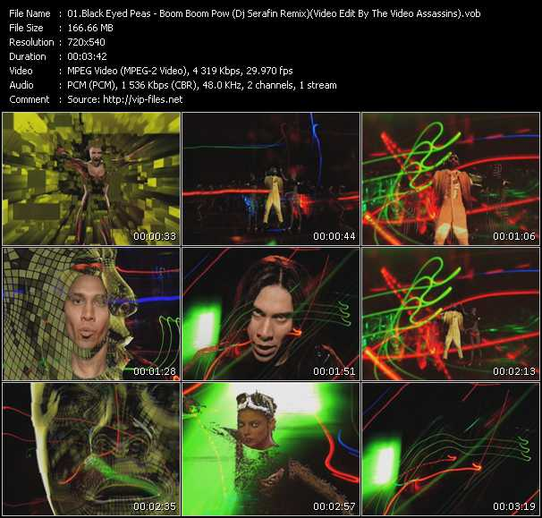Black Eyed Peas - Boom Boom Pow (Dj Serafin Remix) (Video Edit By The Video Assassins)