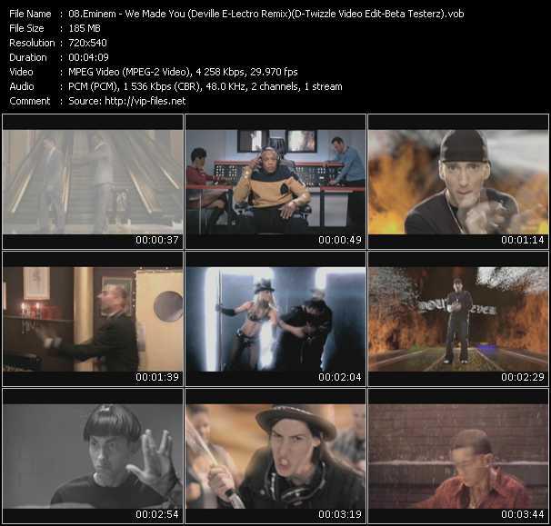 Eminem - We Made You (Deville E-Lectro Remix) (D-Twizzle Video Edit-Beta Testerz)