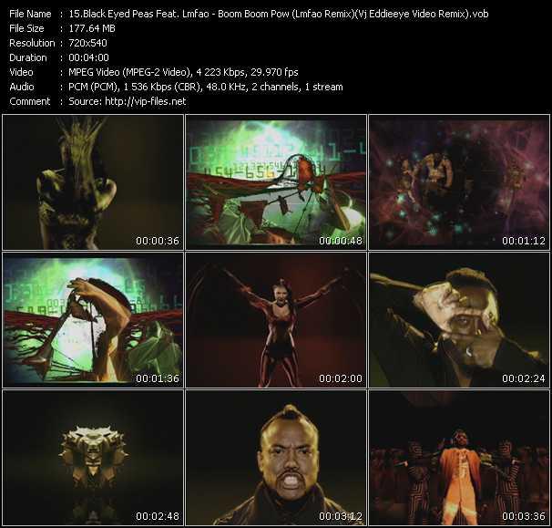 Black Eyed Peas Feat. Lmfao - Boom Boom Pow (Lmfao Remix) (Vj Eddieeye Video Remix)