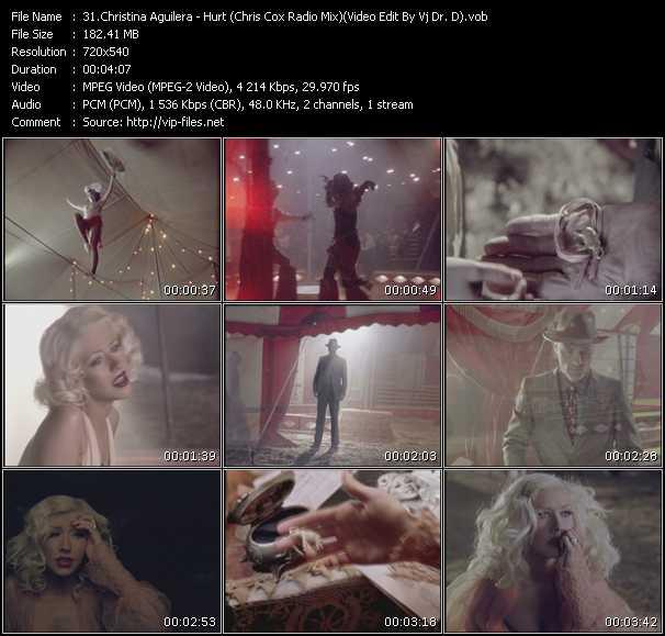 Christina Aguilera - Hurt (Chris Cox Radio Mix) (Video Edit By Vj Dr. D)
