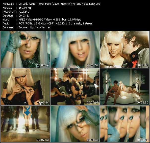 Lady Gaga - Poker Face (Dave Aude Mix) (Vj Tony Video Edit)