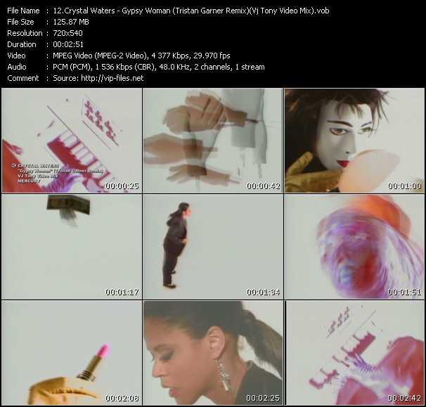 Crystal Waters - Gypsy Woman (Tristan Garner Remix) (Vj Tony Video Mix)