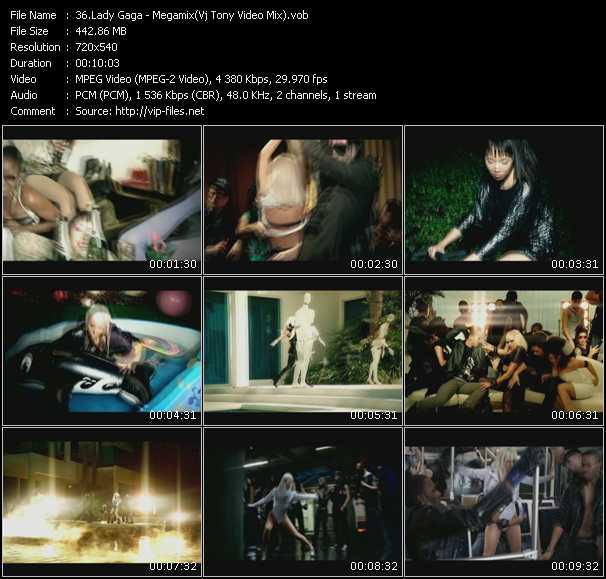 Lady Gaga - Megamix (Vj Tony Video Mix)