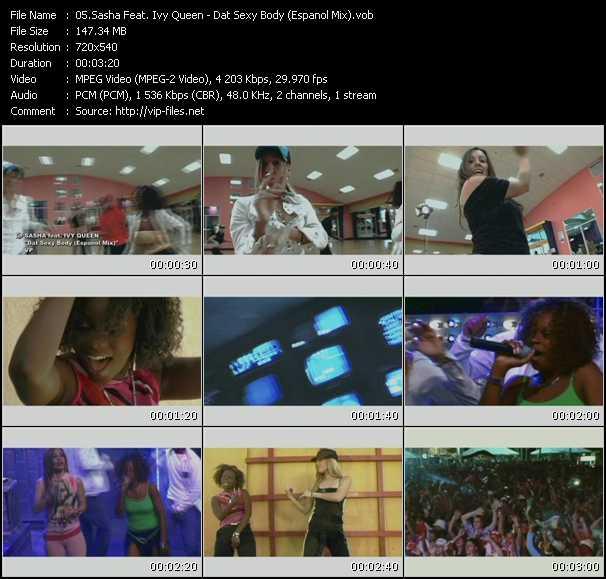 Sasha Feat. Ivy Queen - Dat Sexy Body (Espanol Mix)