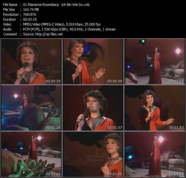 Marianne Rosenberg - Ich Bin Wie Du (From Top Pop)