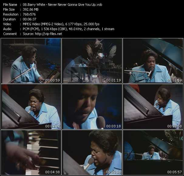 Barry White - Never Never Gonna Give You Up (From Top Pop)