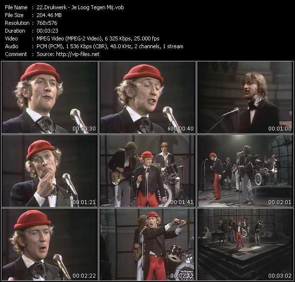 Drukwerk - Je Loog Tegen Mij (From Top Pop)