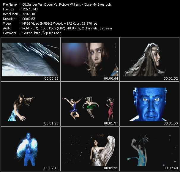 Sander Van Doorn Vs. Robbie Williams - Close My Eyes
