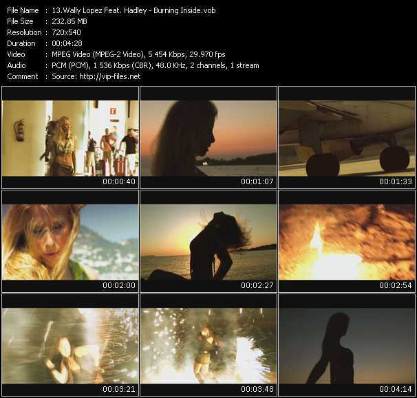 Wally Lopez Feat. Hadley - Burning Inside