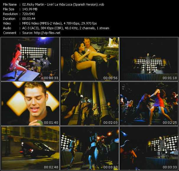 Ricky Martin - Livin' La Vida Loca (Spanish Version)