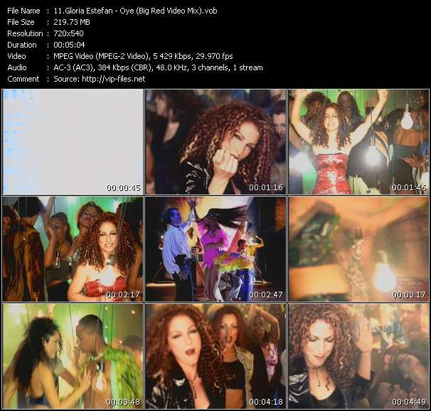 Gloria Estefan - Oye (Big Red Video Mix)