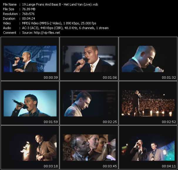 Lange Frans And Baas B - Het Land Van (Live)