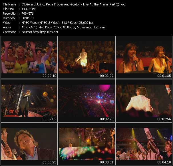 Gerard Joling, Rene Froger And Gordon - Live At The Arena (Part 2)