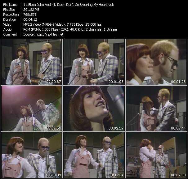 Elton John And Kiki Dee - Don't Go Breaking My Heart