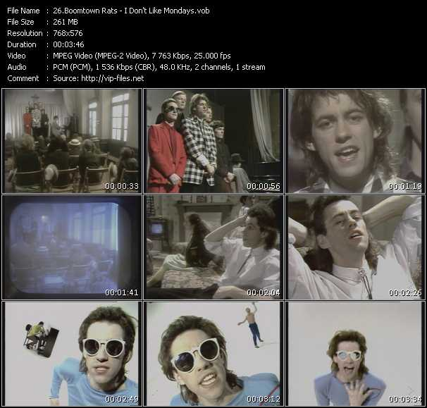 Boomtown Rats - I Don't Like Mondays
