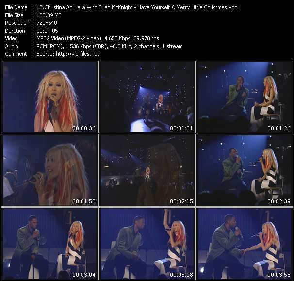 Christina Aguilera With Brian McKnight - Have Yourself A Merry Little Christmas