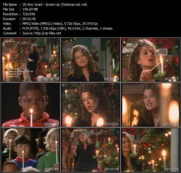Amy Grant - Grown Up Christmas List