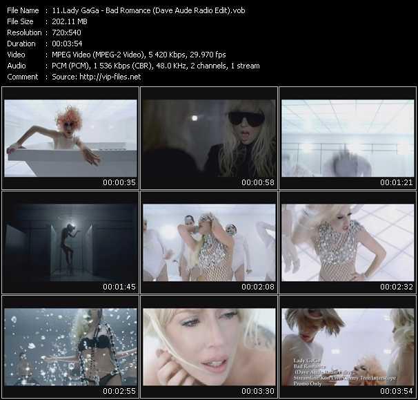 Lady GaGa - Bad Romance (Dave Aude Radio Edit)