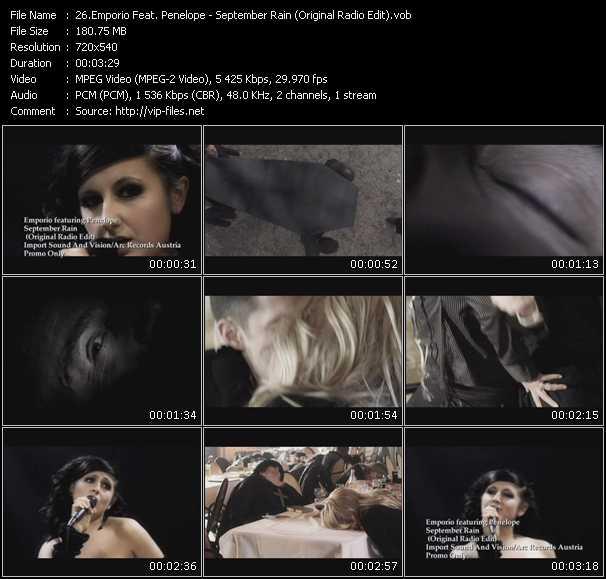 Emporio Feat. Penelope - September Rain (Original Radio Edit)