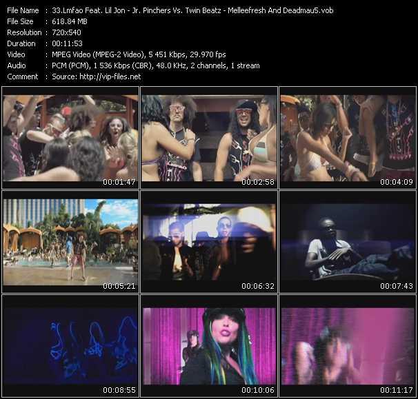 Lmfao Feat. Lil' Jon - Jr. Pinchers Vs. Twin Beatz - Melleefresh And Deadmau5 - Shots - Back Broke - Afterhours