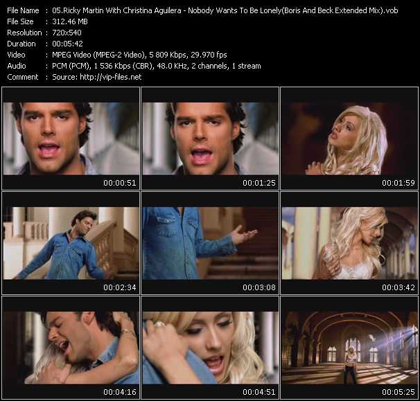Ricky Martin And Christina Aguilera - Nobody Wants To Be Lonely (Boris And Beck Extended Mix)