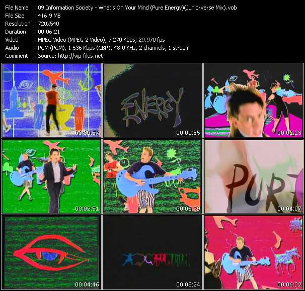 Information Society - What's On Your Mind (Pure Energy) (Juniorverse Mix)