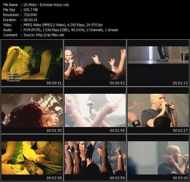 screenschot of Moby video