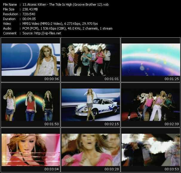 Atomic Kitten - The Tide Is High (Groove Brother 12)