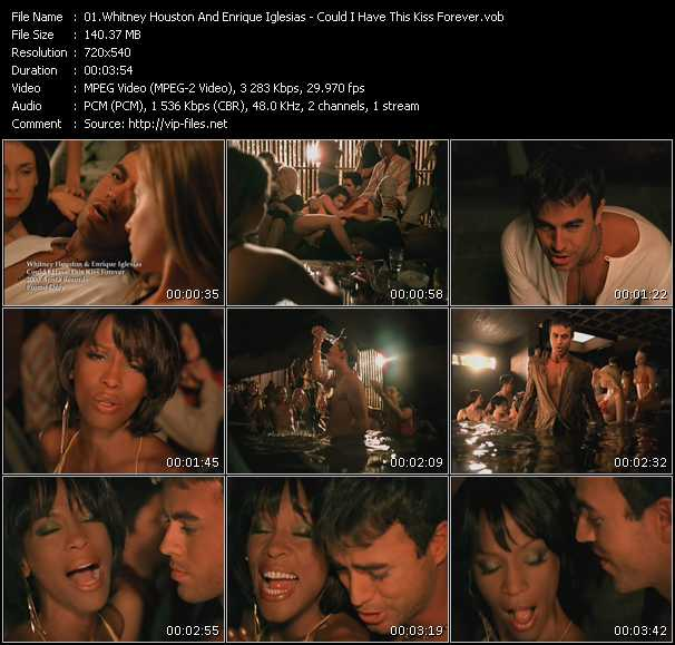 Whitney Houston And Enrique Iglesias - Could I Have This Kiss Forever
