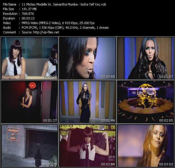 Mickey Modelle Vs. Samantha Mumba - Gotta Tell You