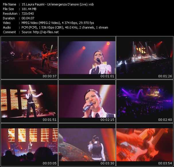 Laura Pausini - Un'emergenza D'amore (Live)