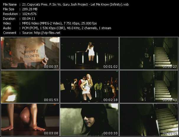 Copycatz Present P. Six Vs. Guru Josh Project - Let Me Know (Infinity)