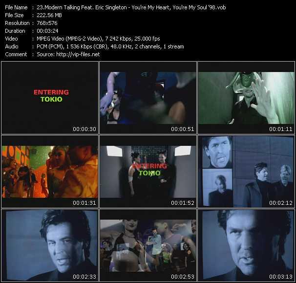 Modern Talking Feat. Eric Singleton - You're My Heart, You're My Soul '98