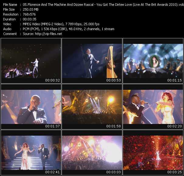 Florence And The Machine And Dizzee Rascal - You Got The Dirtee Love (Live At The Brit Awards 2010)