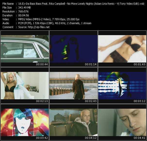 Ex-Da Bass Feat. Rita Campbell - No More Lonely Nights (Adam Liria Remix) (Vj Tony Video Edit)