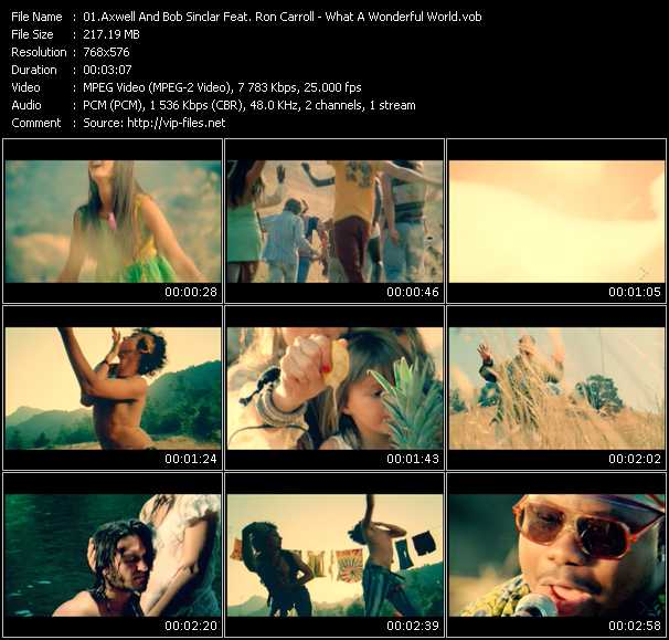 Axwell And Bob Sinclar Feat. Ron Carroll - What A Wonderful World