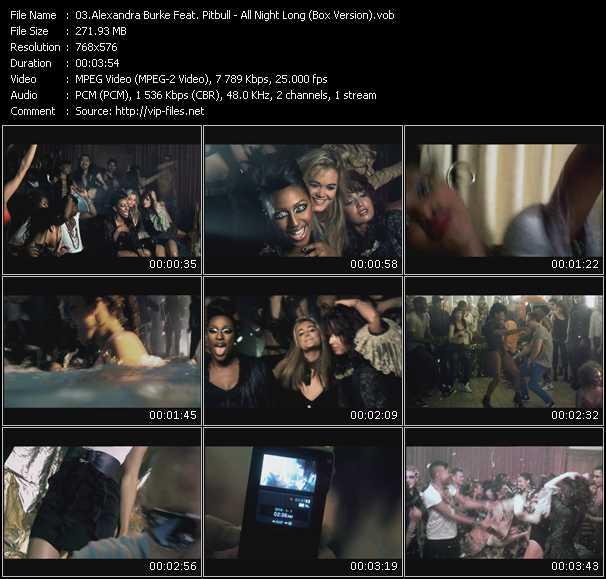 Alexandra Burke Feat. Pitbull - All Night Long (Box Version)