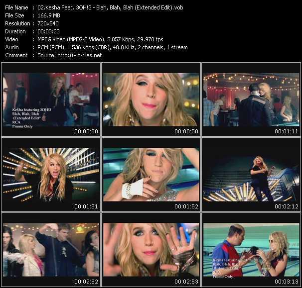 Kesha Feat. 3OH!3 - Blah, Blah, Blah (Extended Edit)