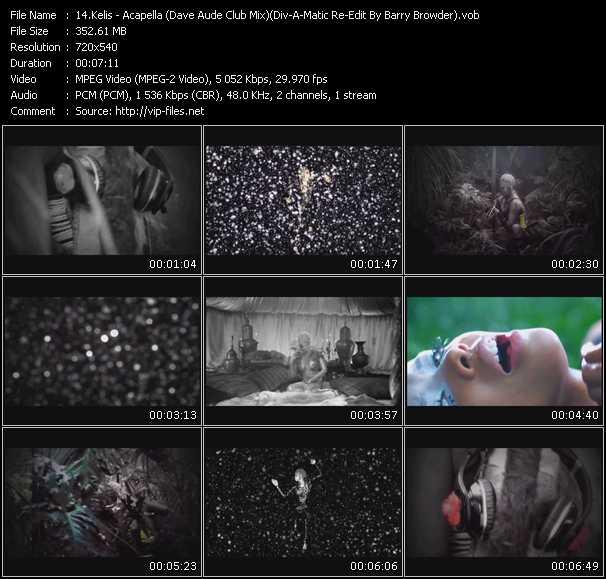 Kelis - Acapella (Dave Aude Club Mix) (Div-A-Matic Re-Edit By Barry Browder)