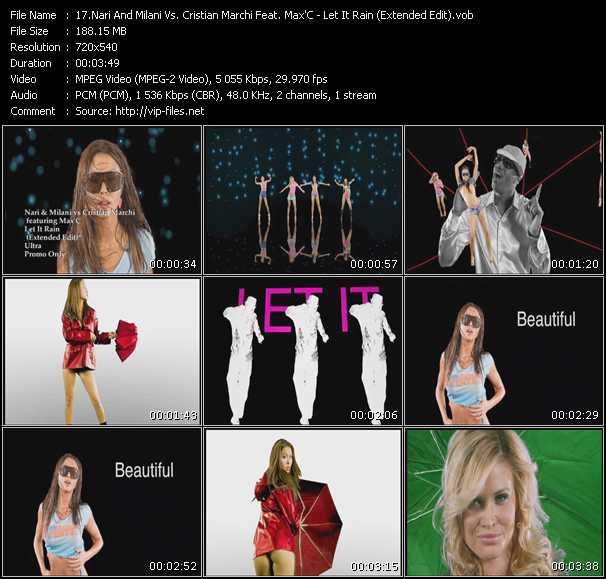 Nari And Milani Vs. Cristian Marchi Feat. Max'C - Let It Rain (Extended Edit)