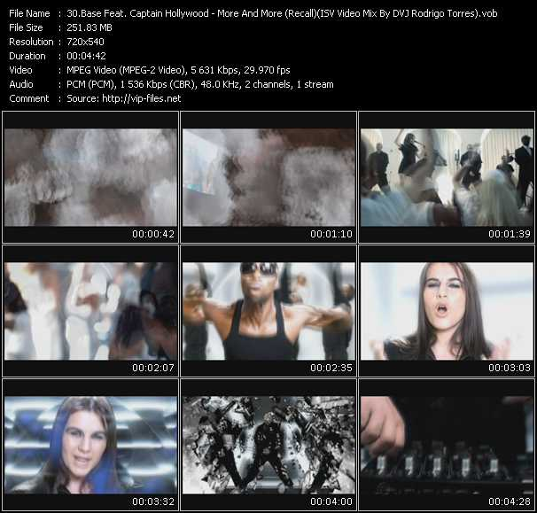 Base Feat. Captain Hollywood - More And More (Recall) (ISV Video Mix By DVJ Rodrigo Torres)