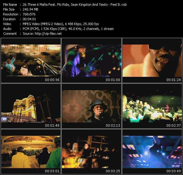 Three 6 Mafia Feat. Flo Rida, Sean Kingston And Tiesto - Feel It